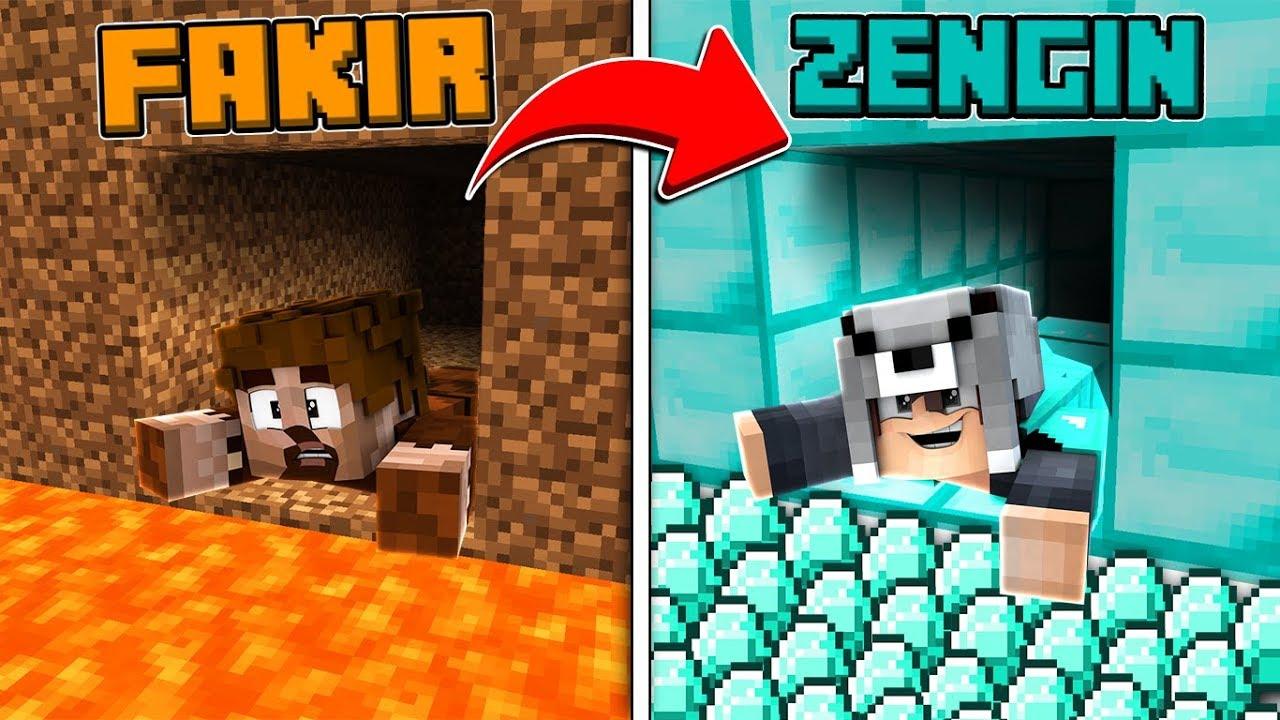 Fakir Tuzakli Tunel Vs Zengin Tuzakli Tunel Minecraft Youtube