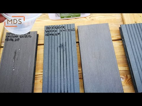 WPC deck boards protection | WOCA Wood Shield and WPC lentų