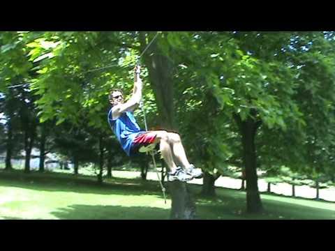 Small Zipline for kids - YouTube