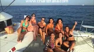 Alquiler Catamaran Ibiza www.charteralia.com Despedidas de soltera