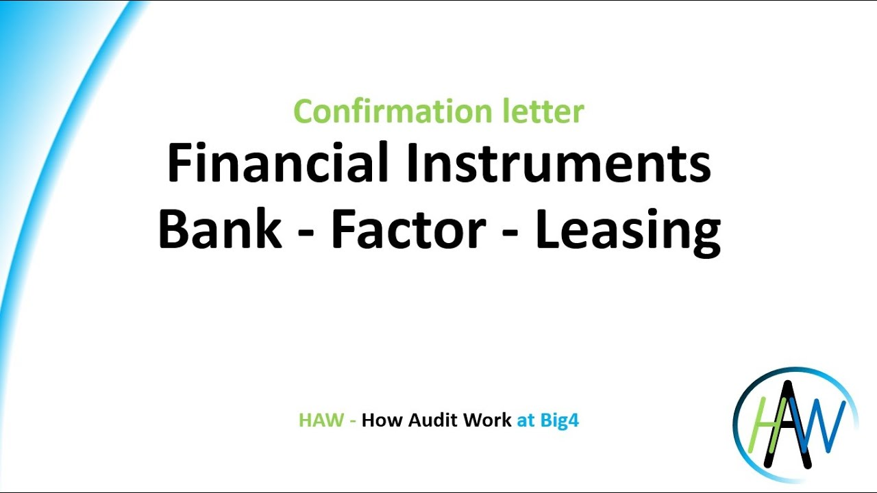 5 4 Confirmation Letter Financial Bank Derivatives Factor Leasing Preview Haw Youtube