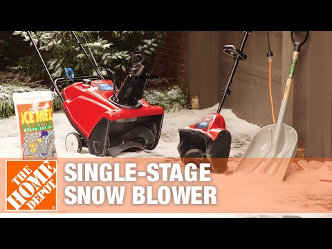 How To Choose and Maintain a Single-Stage Snow Blower- The Home Depot