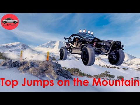 Forza Horizon 3 Blizzard Mountain | 5 danger signs - longest jump ?