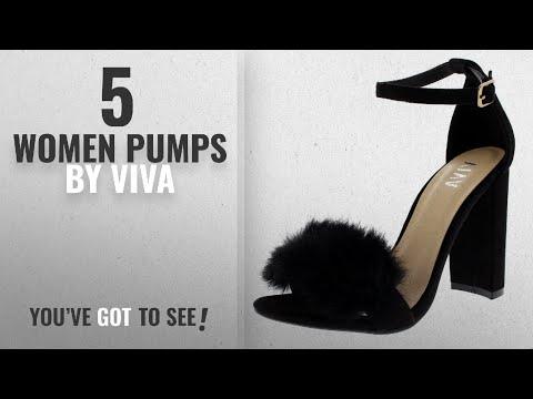 Top 5 Viva Women Pumps [2018]: Viva Womens Party Block Heel Cut Out Fashion High Heels Evening