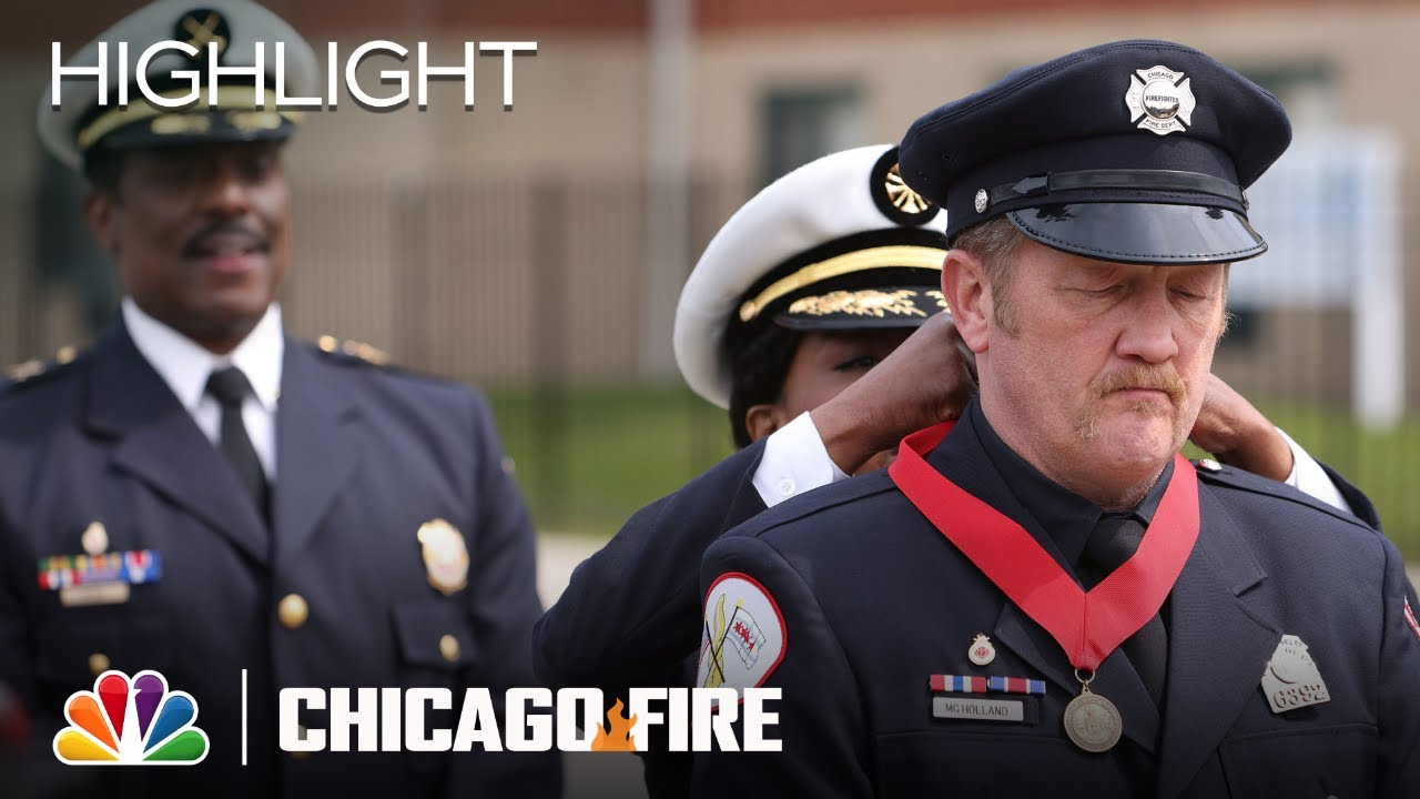 Download Mouch Is Given the Firefighter's Award of Valor - Chicago Fire