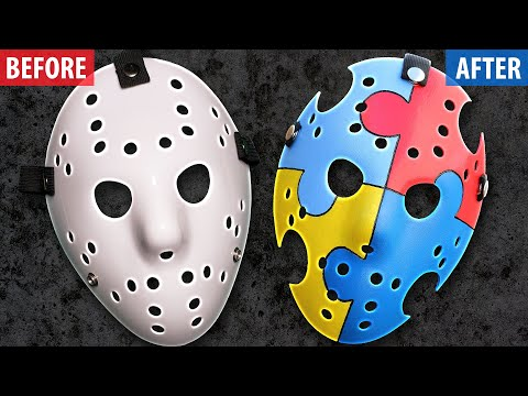 "How to Make an ""Autism Awareness"" Jason Mask - Friday the 13th DIY"