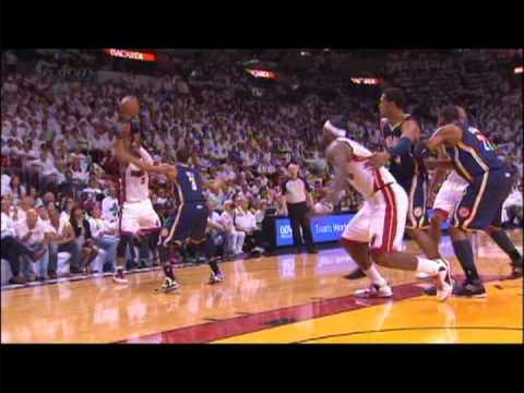 LeBron James and Danny Granger Kerfuffle with LeBron Elbow Game 2 Pacers Heat