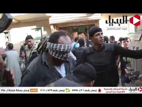 القبض علي اخطر مجرم بالعياط وسط زغاريد الاهالي وتسلم الايادي
