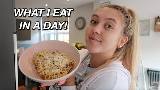 WHAT I EAT IN A DAY! my own carbonara recipe, tacos &amp more!