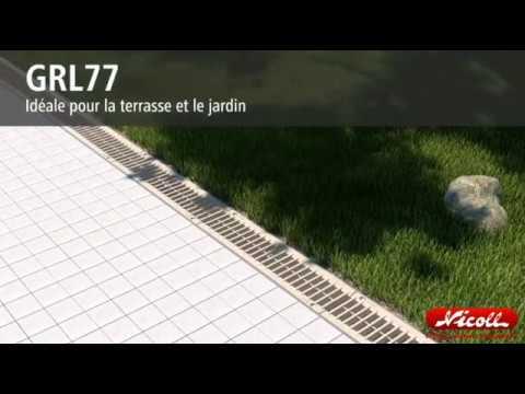 Nouvelles grilles de caniveaux connecto nicoll youtube for Caniveau piscine miroir