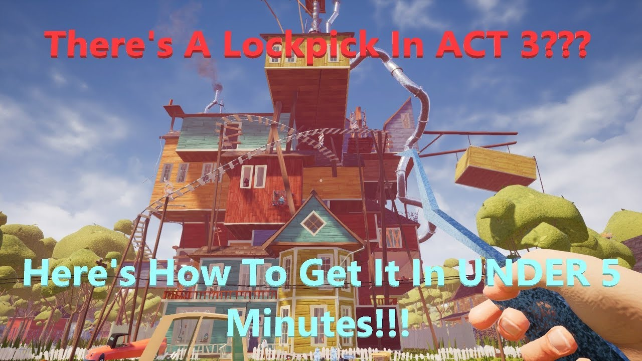 How To Find The Lockpick In Hello Neighbor ACT 3!!! Xbox One Version