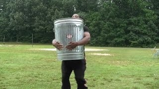 Sandbag Carry Workout With A Trash Can