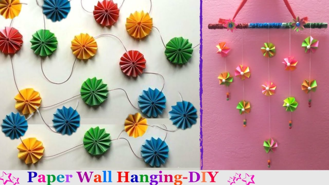 How To Make Paper Wall Hangings At Home For Christmas Easy Paper Wall Hanging Craft Ideas