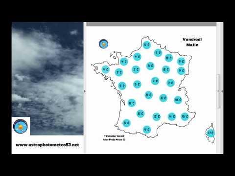 Aujourd'hui : nuageux au sud-est et ensoleillé au nord