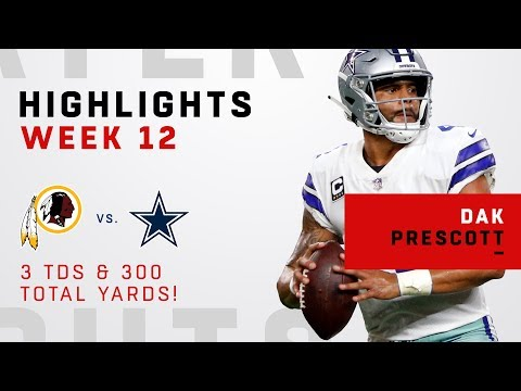 Dak Prescott's 300 Total Yards & 3 TDs vs. Redskins