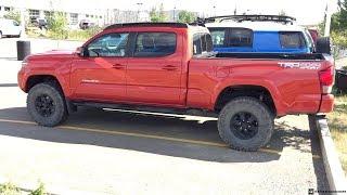 Lifted 2017 Inferno Toyota Tacoma Double Cab TRD Sport on 285/75R16 Tires