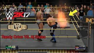 randy orton vs aj styles wwe 2k17   مباراة خرافية على اللقب
