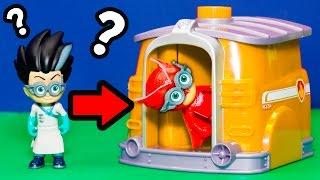 PJ MASKS Disney Romeo Tricks Gekko Catboy with Paw Patrol Hero Pup 2 Hero Toy Playset