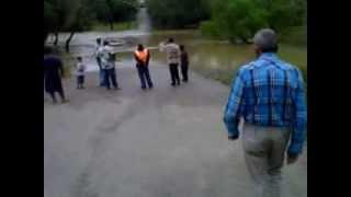 Bridge flooded out in SAn Ignacio