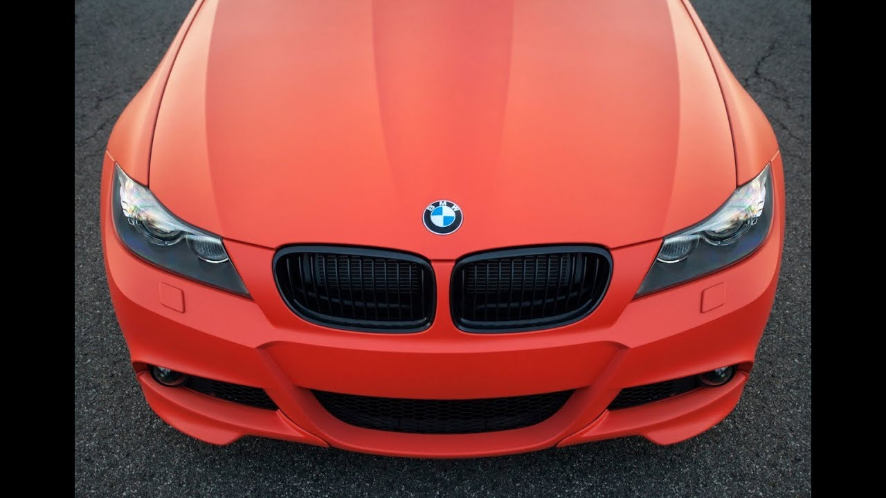 Plasti Dip Emblems >> Koi Orange Plastidipped BMW 335i Plasti dip - YouTube