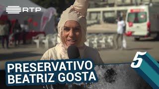 Beatriz Gosta vestida de preservativo | 5 Para a Meia-Noite | RTP