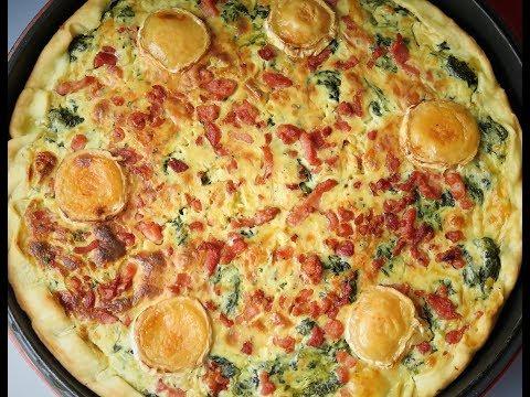 recette-95:-quiche-aux-Épinards,-chèvre-et-lardons-de-dinde-/-spinach,-goat-cheese-&-lardon-quiche