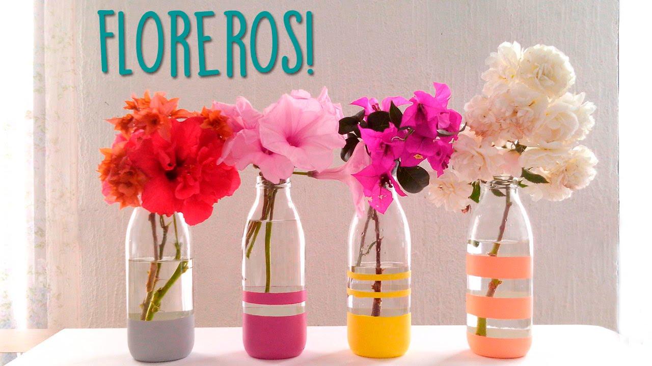 haz bonitos floreros reciclados super fcil