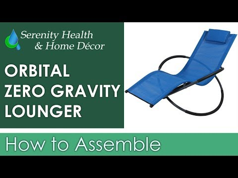 Sunnydaze Orbital Folding Zero Gravity Lounger with Pillow