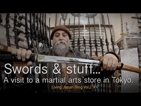 Japanese Swords, Budo Equipment. A Visit To A Shobudo Tokyo Martial Arts Store