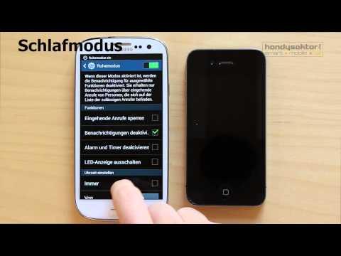 Handysektor How to - Smartphone im Schlafmodus