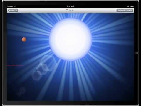 Kepler 9d - Transit method - iPad Exoplanet App