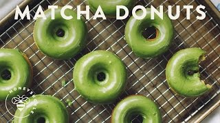 Matcha Green Tea Baked Donuts - Honeysuckle