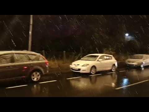 Nieva en Lalín en octubre