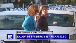 Aumento de tarifas en servicio de taxis