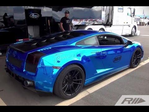 Lamborghini spins out after 228mph 1/2 mile run! - ETS GT-R vs OB Prestige Lambo
