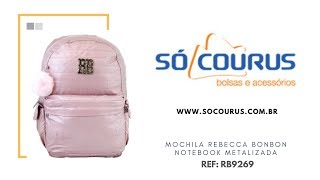 19da03996 MOCHILA REBECCA BONBON NOTEBOOK METALIZADA RB9269