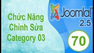 Lập Trình Joomla - Bài 70: Chức Năng Thêm Category: Edit category 03