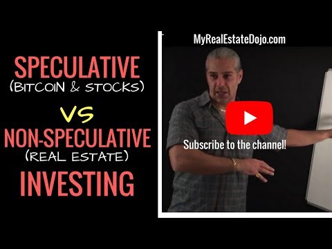 Speculative Investing (Bitcoin & Stocks) VS Non-Speculative