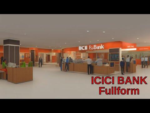 Full form of ICICI Bank - YouTube