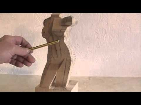 carving a female torso wood carving tutorial video by