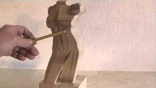 Carving A Female Torso - Wood Carving Tutorial Video By Ian Norbury (clip)