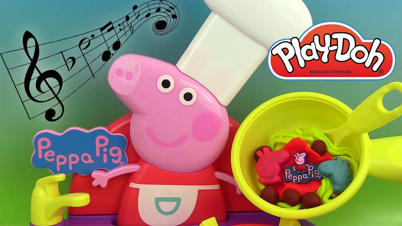 p te modeler peppa pig sing along kitchen cuisine musicale jouet play doh peppa pig youtube. Black Bedroom Furniture Sets. Home Design Ideas