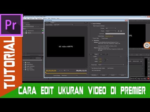 Cara Mengatur Squence atau Ukuran Video di Adobe Premier