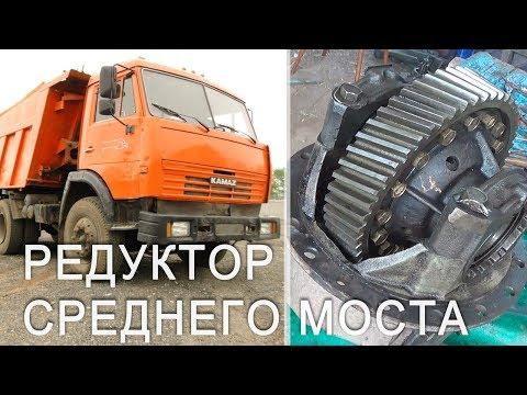 Камаз - редуктор среднего моста - ремонт межосевого дифференциала