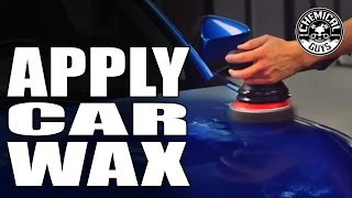 how to apply car wax by machine torq22d chemical guys