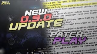 FULL English PATCH NOTES for PUBG Mobile 0.9.0 Global Update - HUGE CHANGES | DerekG