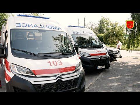 7 автомобілів швидкої подарували Білоцерківській станції екстреної медичної допомоги