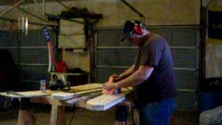 Windmill Blade Carving With Handheld Power Planer