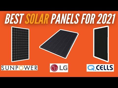 Best Solar Panels for 2021