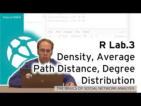 R Lab.3- Density, Average Path Distance, Degree Distribution:A Social Network Lab in R for Beginners